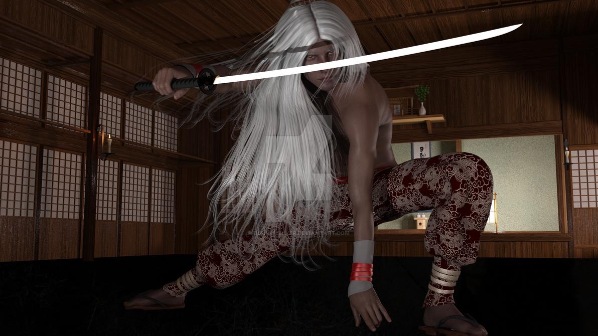 Swordsmaster Arjuna by DiannaSilver