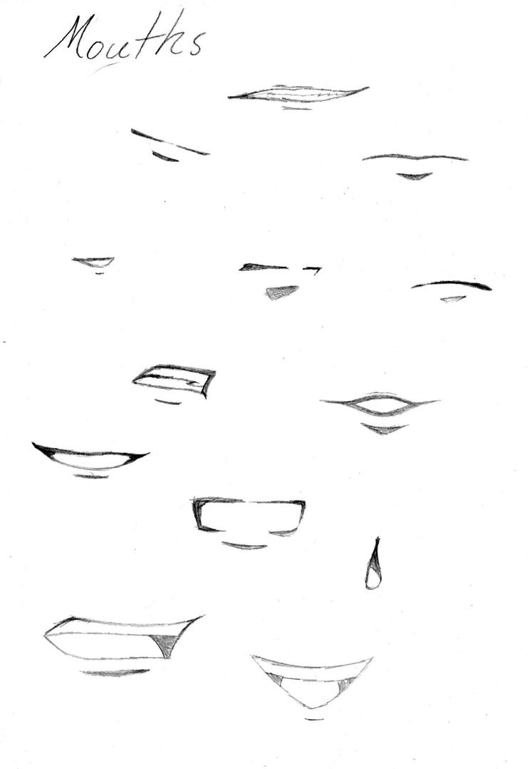 Anime Manga Mouths By Brp393