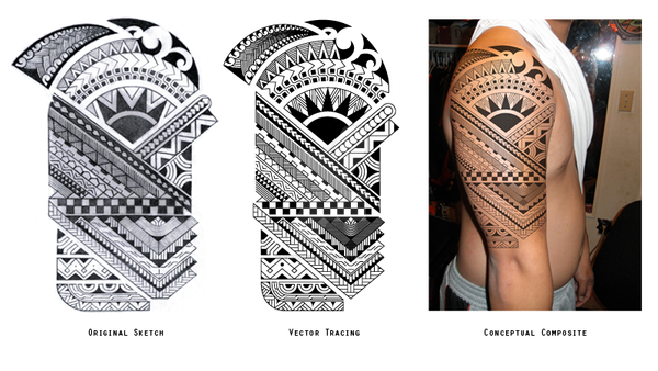 polynesian tattoo by chinopisces on deviantart. Black Bedroom Furniture Sets. Home Design Ideas