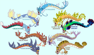 Gyarados variations + hybrids!
