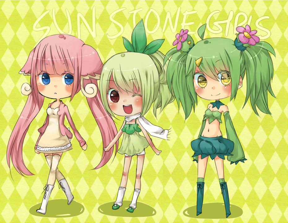 Minor Sun Stone Girls by Hacuubii