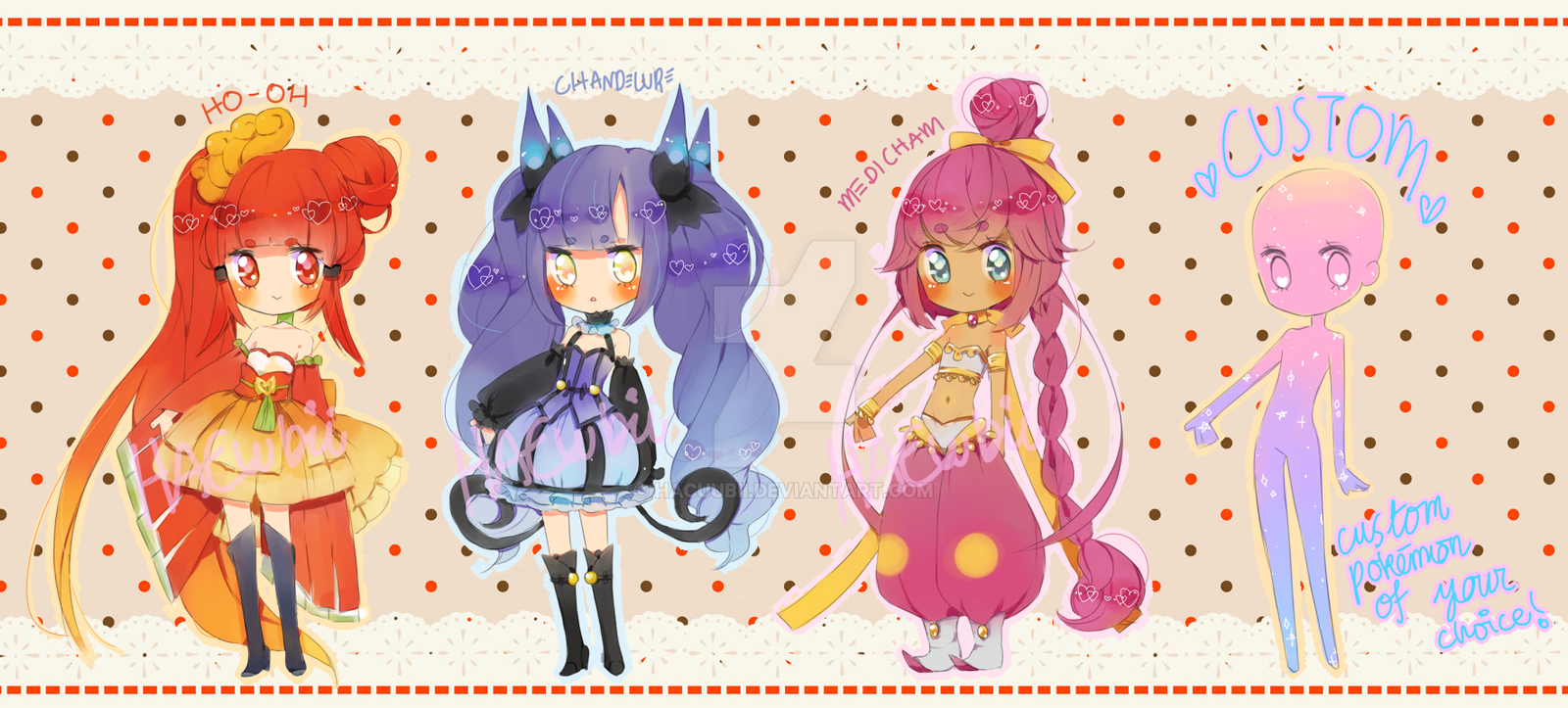Pokemon Puella 2nd Batch {paypal} by Hacuubii