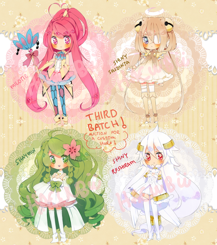 Pokemon Puella 3rd Batch{paypal}{closed} by Hacuubii
