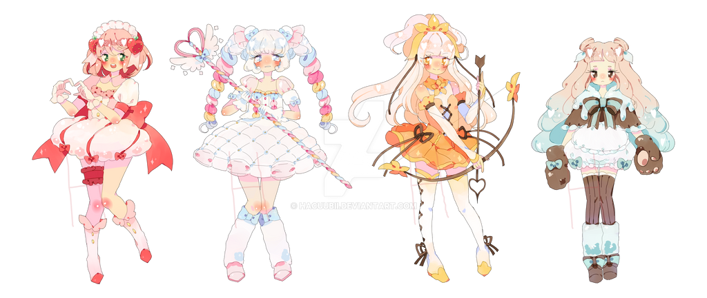 Magical Girls Adopt A La Mode (closed) by Hacuubii on DeviantArt