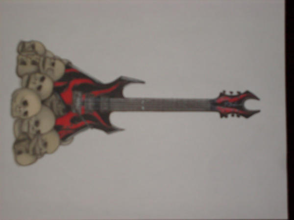guitar tattoo design by
