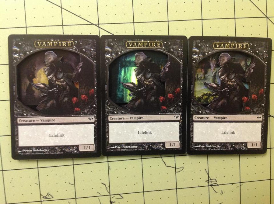 3D Vampires Magic Cards by XxozzybrookexX