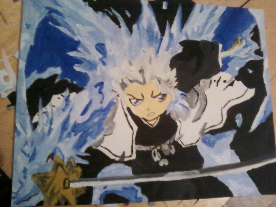 Toshiro Hitsugaya painting by XxozzybrookexX