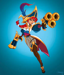 Miss Fortune as Captain Fortune by ClemCyza
