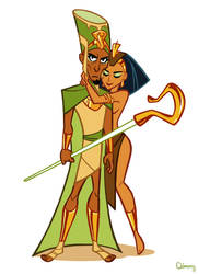 Pharaoh and pharaohnette