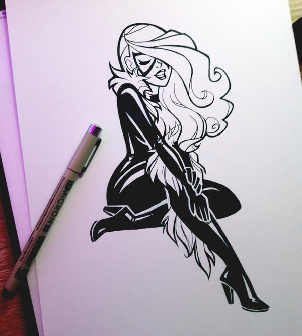 Commission : Black Cat by ClemCyza