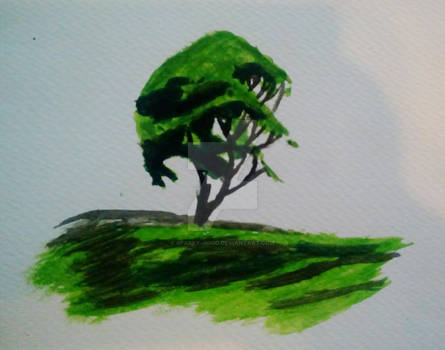 Watercolor Demo Painting 1-Tree