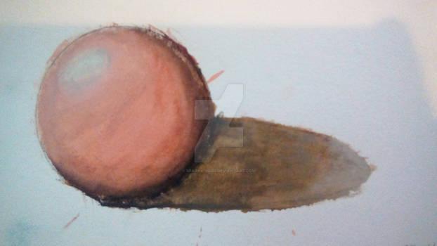 Watercolor Demo Painting 2- Sphere