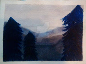 Watercolor Demo Painting 3- Mountain Landscape