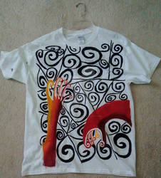 T-Shirt Design: Trapped in The Spirals of Life