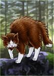 Bristling cat!