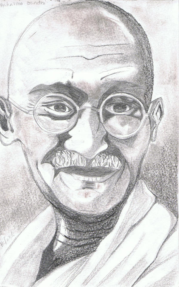 Gandhi by the-rope