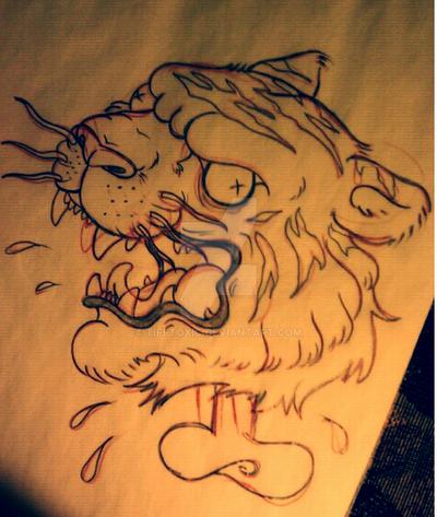 tiger drawing pencil