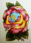 Rose Skull by tifftoxic