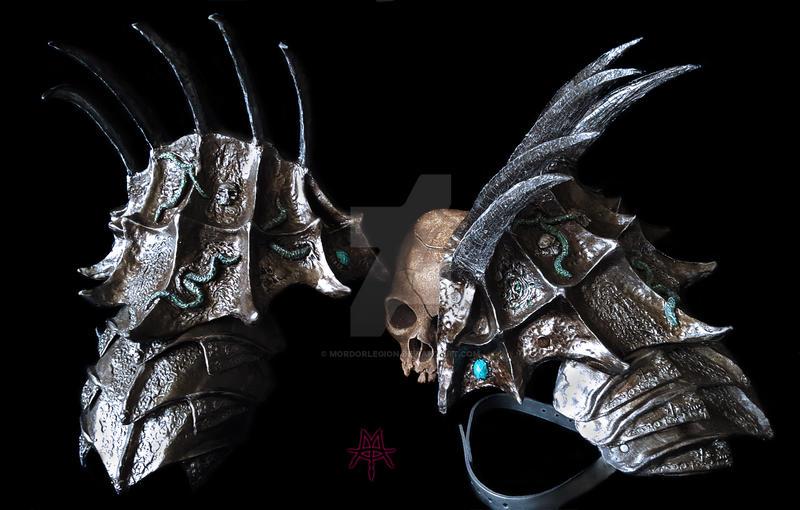 Dark Shoulderplates with upper arm plates by MordorLegion