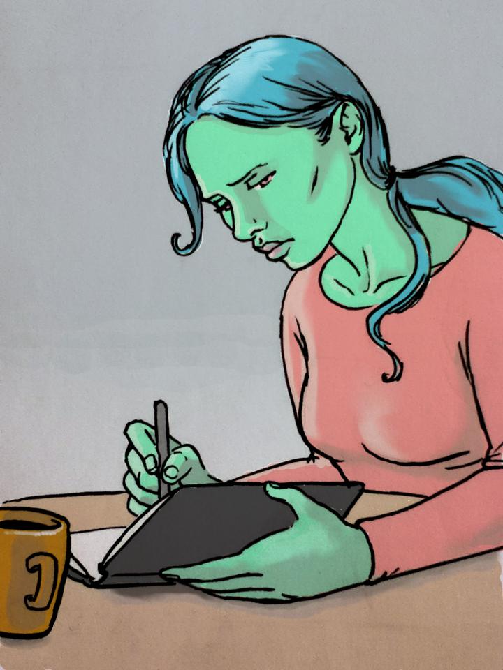 Elegia drawing by Leonor