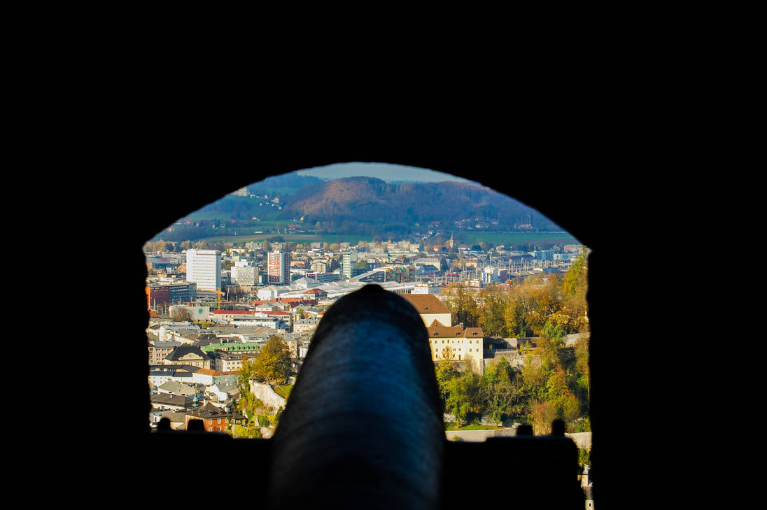 Cannon over City by JbvDesigns