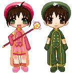 Sakura + Syaoran by raver-candii