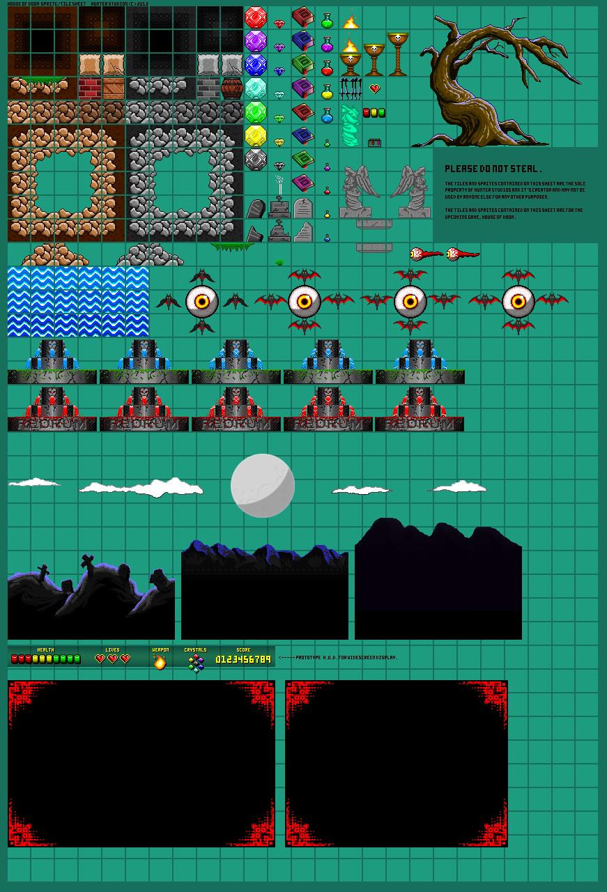 House of Doom Tile Sheet [2-10-13] by THX1138666 on DeviantArt