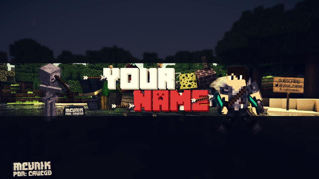Banner Minecraft Template By Cauegd