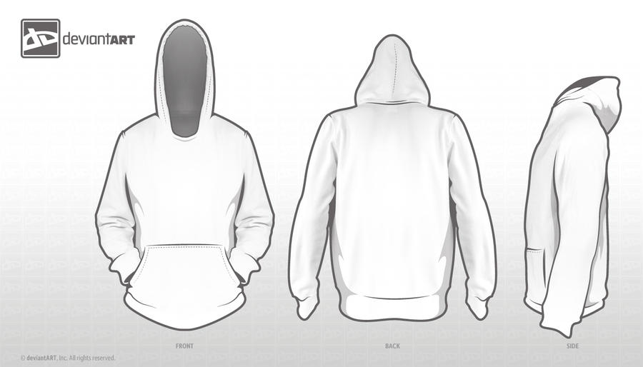 Hoodie Template For Competition By Nickybrenzel On DeviantArt - Sweatshirt design template