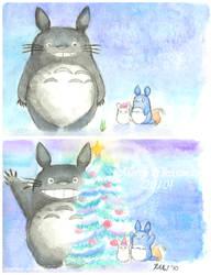 Totoro Christmas 2010 by Umeiwa
