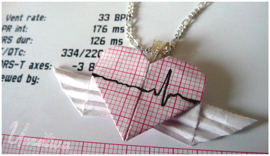 Angelic Heartbeat EKG Necklace by Umeiwa