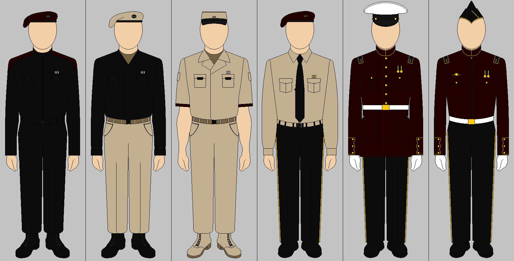 United Colonial Marine Corps Male Officers Uniform by AresOfRome ...