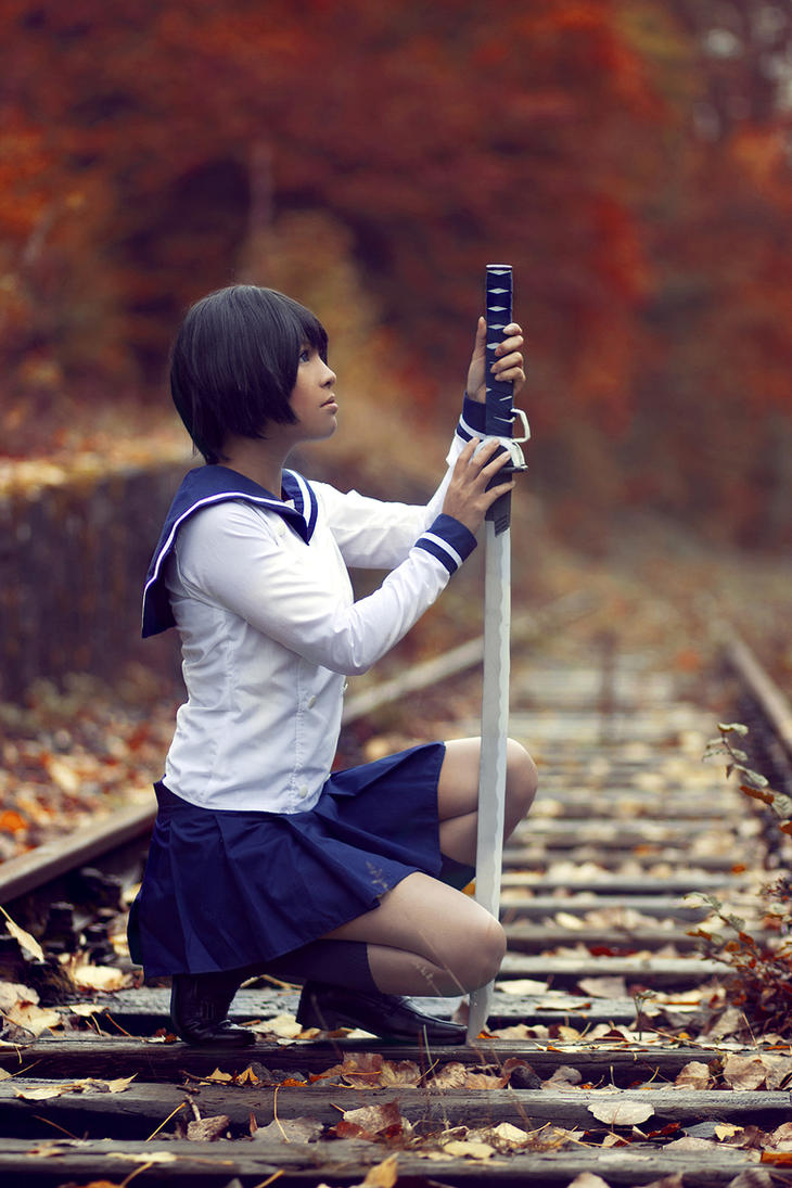 Kagura Tsuchimiya . I will never give up by kazenary