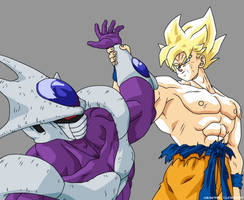 Super Saiyan Goku vs Cooler by Bardock85