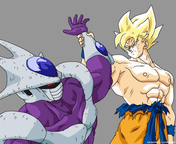 Super Saiyan Goku vs Cooler by Bardock85 on DeviantArt