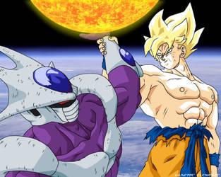 Super Goku vs Cooler Wallpaper by Bardock85