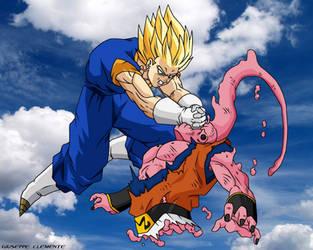 Super Vegeku vs Buu Wallpaper by Bardock85