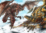 Rathalos Vs tigrex by HectorHerrera