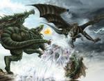Kushala vs Rathian by HectorHerrera