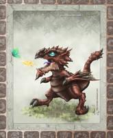 Monster hunter baby rathalos by HectorHerrera