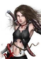 The red warrior by HectorHerrera
