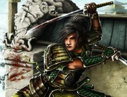 l5r - Mirumoto samurai by HectorHerrera