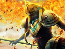Ra, The sun God by HectorHerrera
