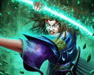 L5R -  Kuni Shinoda, Advisor to the Jade champion  by HectorHerrera