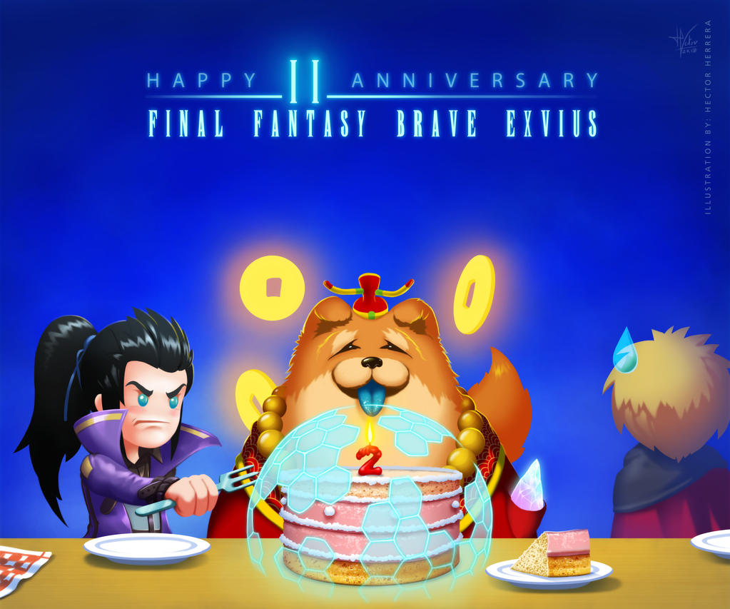 Happy 2nd anniversary FFBE! by HectorHerrera