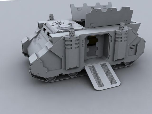 Warhammer 40k Rhino 3d Model  by lost-wolf2013 on DeviantArt