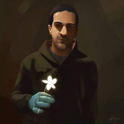 Iyad al-Hallaq   Digital Portrait Painting