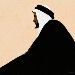 The Sheikh | Digital Watercolor Portrait Painting