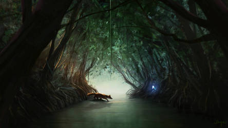 In The Mangrove Tunnel   Narrative Digital Art