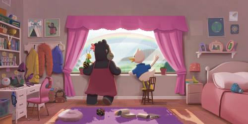 Rainbow View   Children's Book Illustration